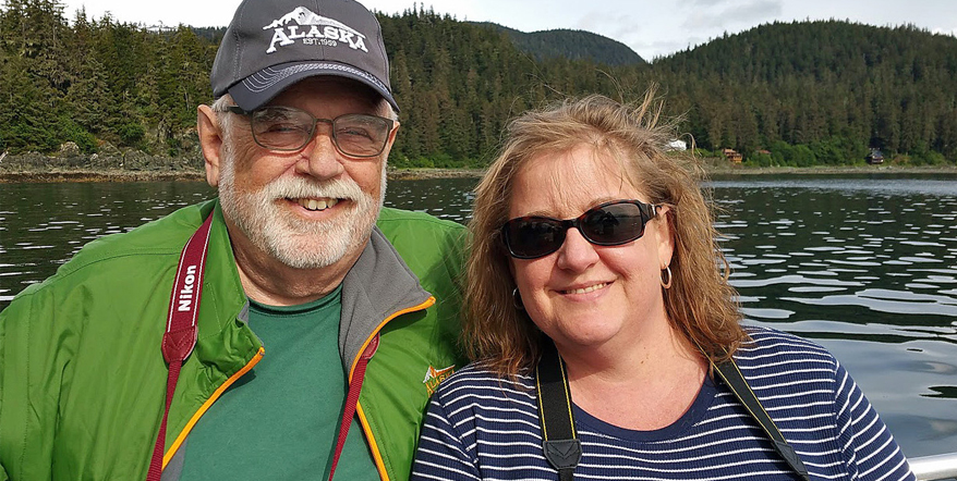 Image of Tandi Brazell and her father on their photography trip to Alaska.