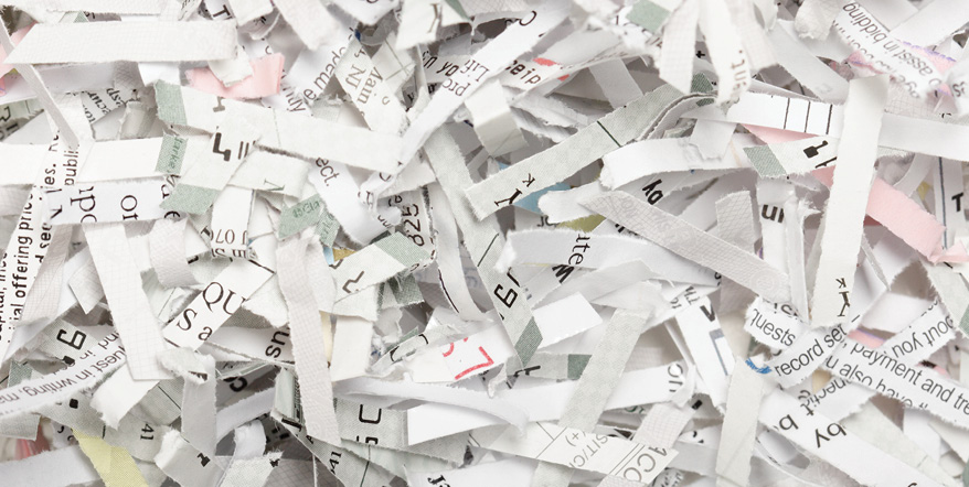 Image of shredded paper.