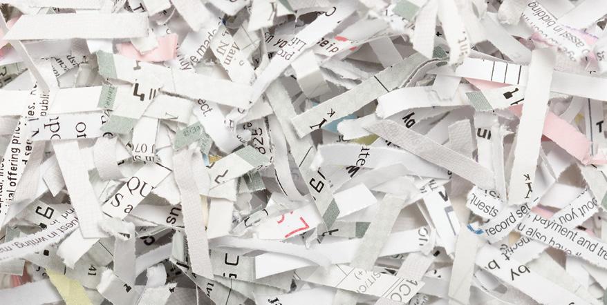 Image of shredded paper.