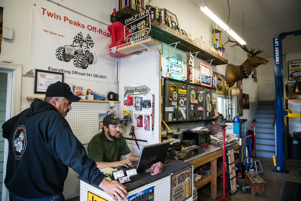 Image of Virgle in his Twin Peaks OFf-Road shop
