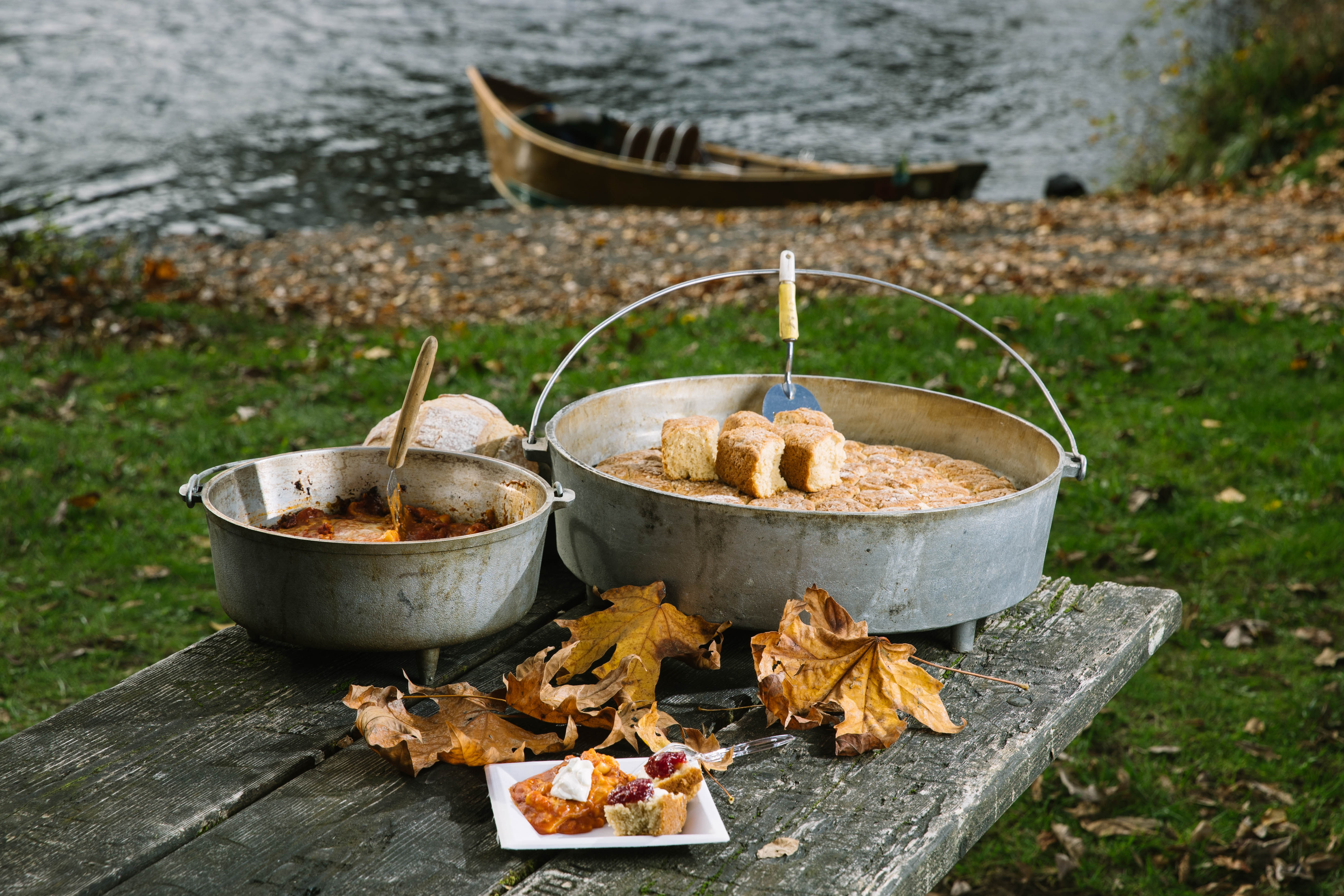 Billy's cast-iron Dutch Oven cooking