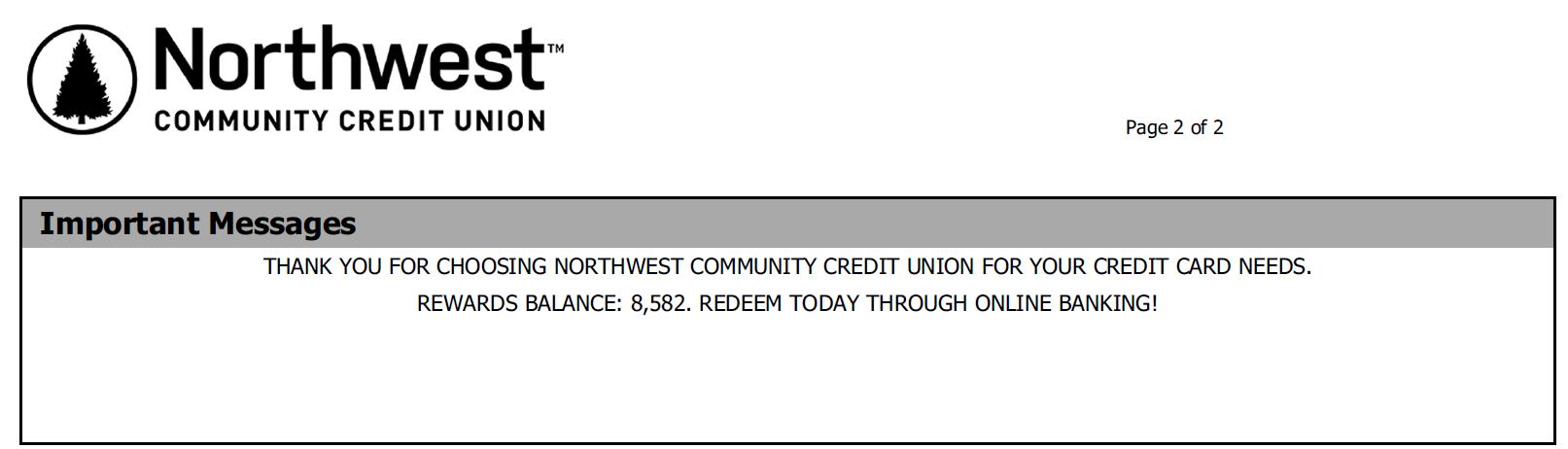 Rewards Points on credit card Statement