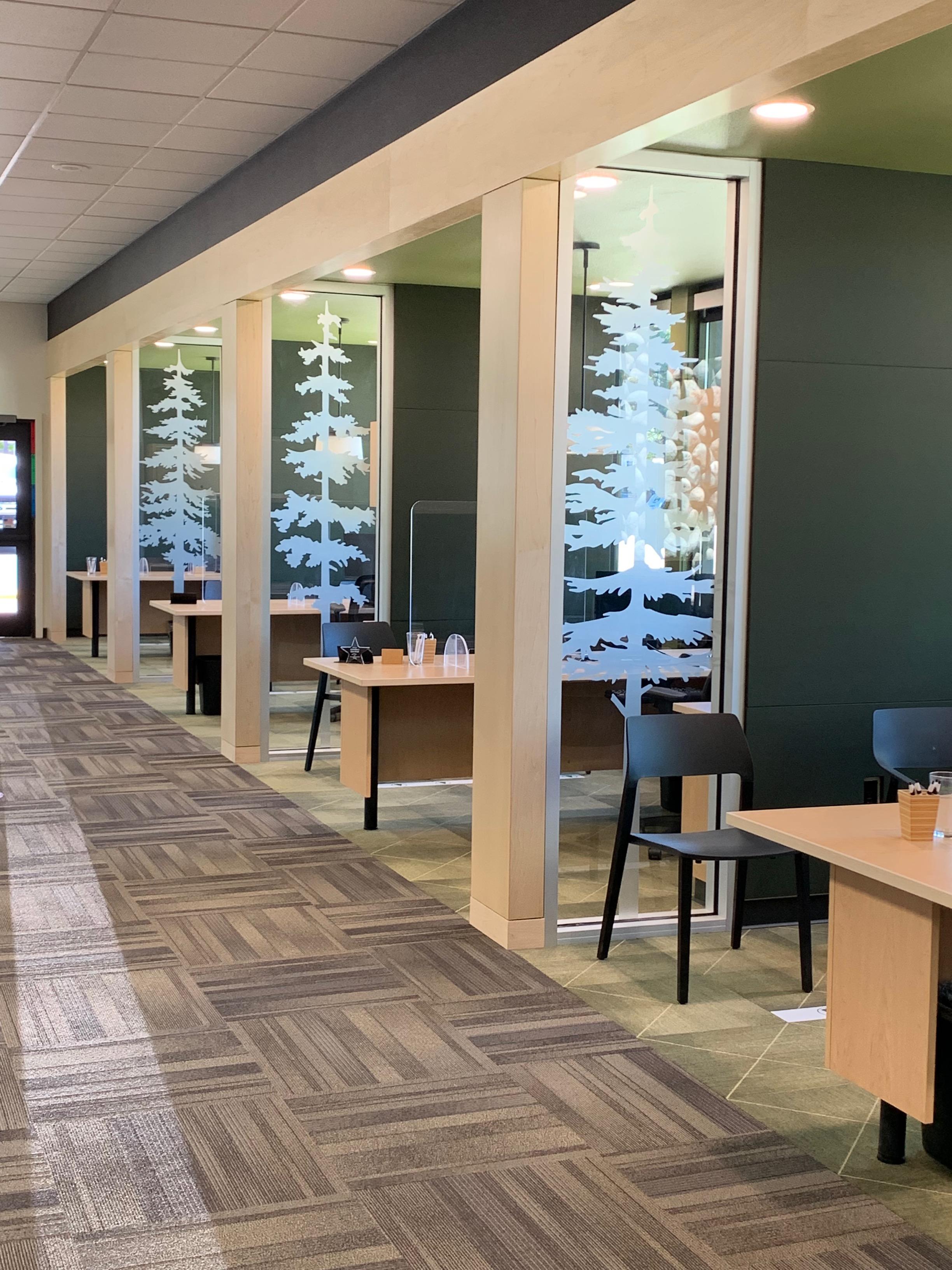 Remodeled Bend Branch lobby